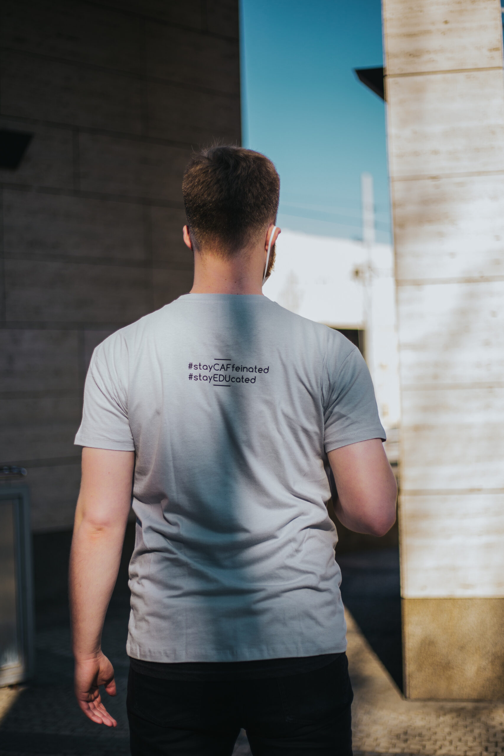 Men's T-shirt grey - back side