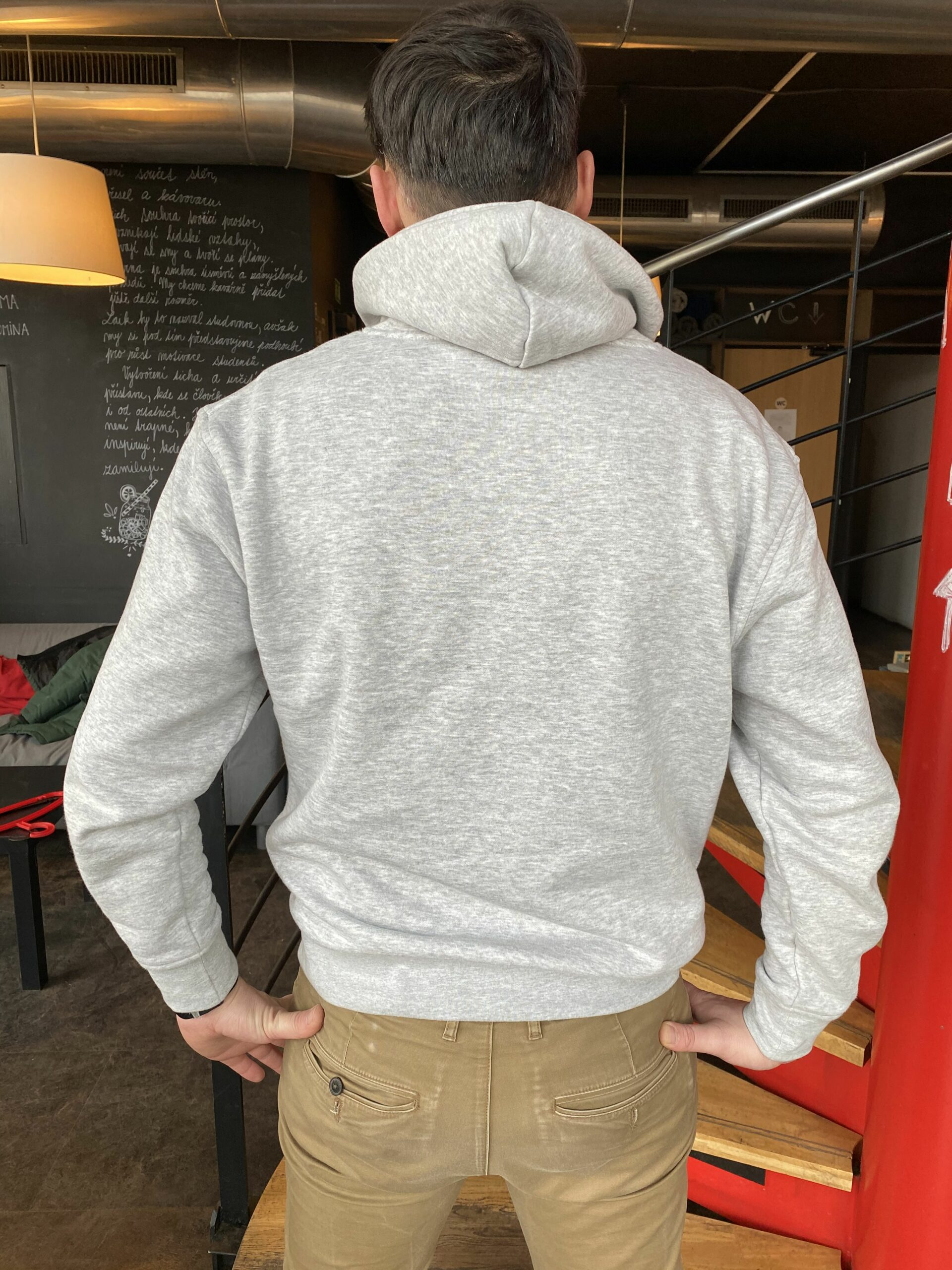 Hoodie grey back side